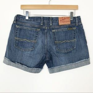 LUXKY BRAND Raw Hem Relaxed Denim Shorts 6 28
